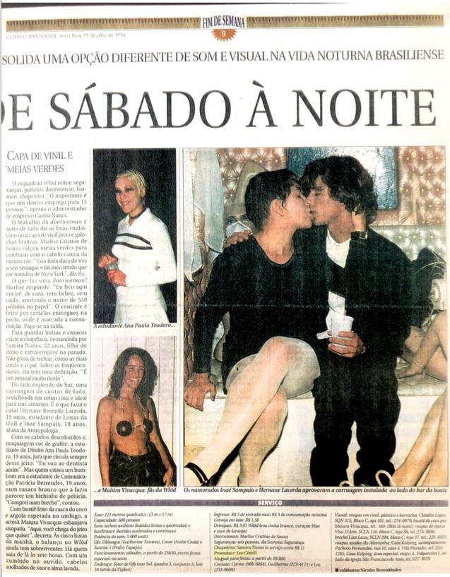 Matéria do Correio Braziliense 1996